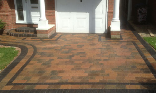 Block Paving Patterned Concrete Patio Driveway In Sheffield
